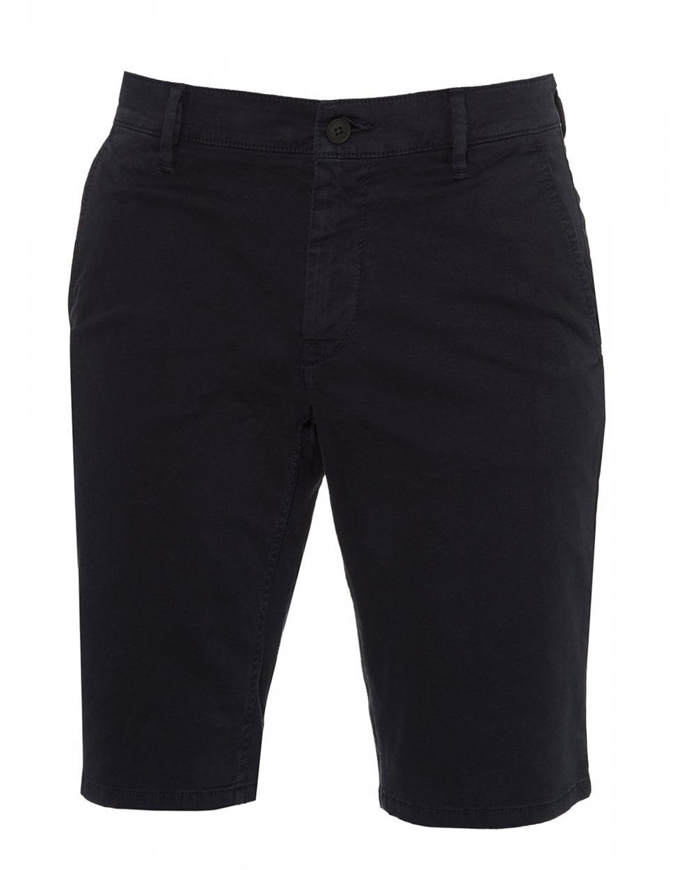 3c92743e0 BOSS Casual Mens Schino Slim Navy Blue Chino Shorts