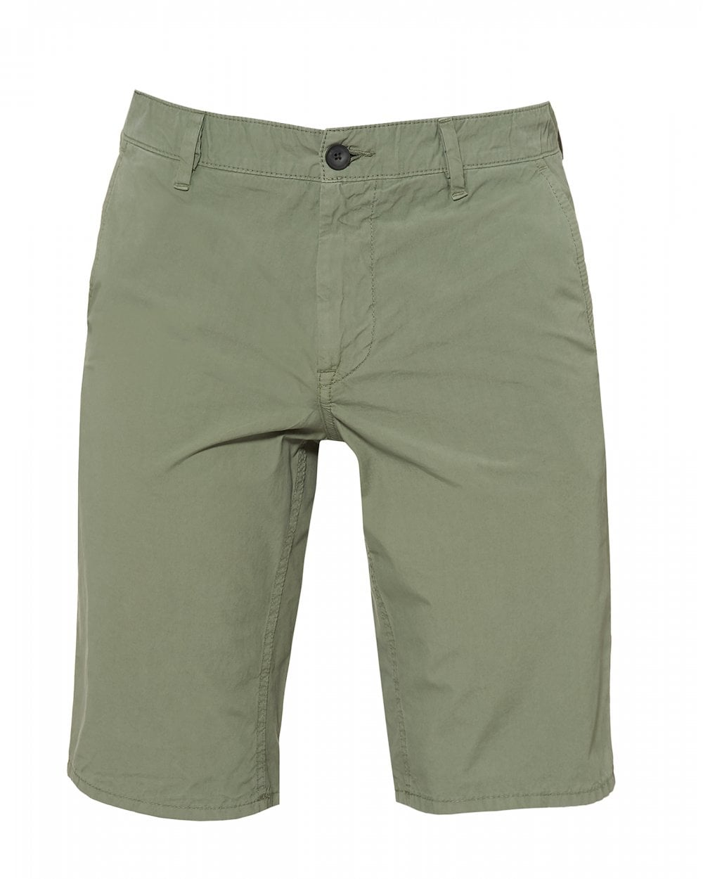 9c833c43 BOSS Casual Mens Schino-Slim-Shorts D Cotton Light Green Shorts
