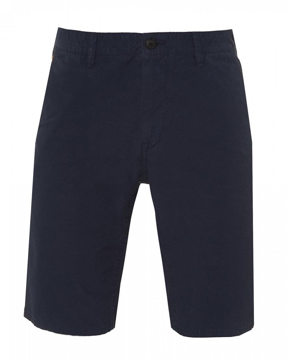 c59ec6af BOSS Casual Mens Schino-Slim-Shorts D Cotton Navy Blue Shorts