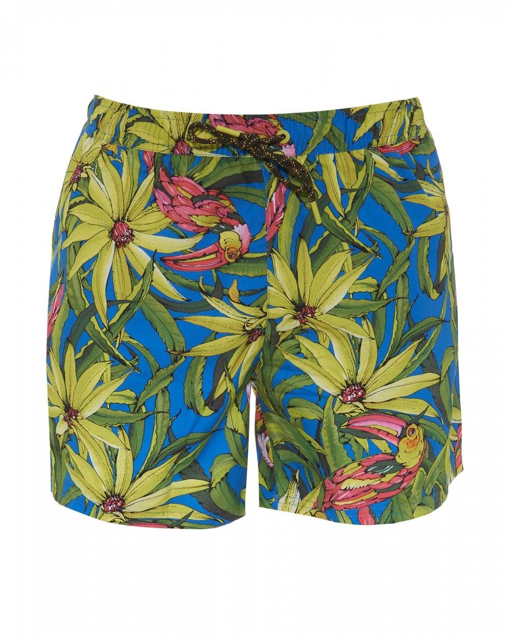 2cb5ccb081 BOSS Mens Threadfin Swimming Shorts, Floral Print Swimming Trunks