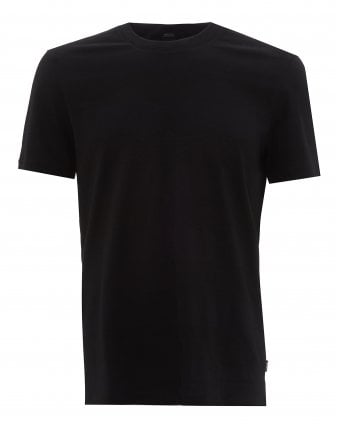 7f78a71a Mens Tiburt Striped T-Shirt, Black Regular Fit Tee