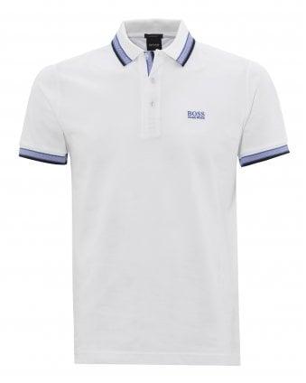 f646337e Mens White Cotton-Piqué Logo Polo Shirt New In. BOSS ...