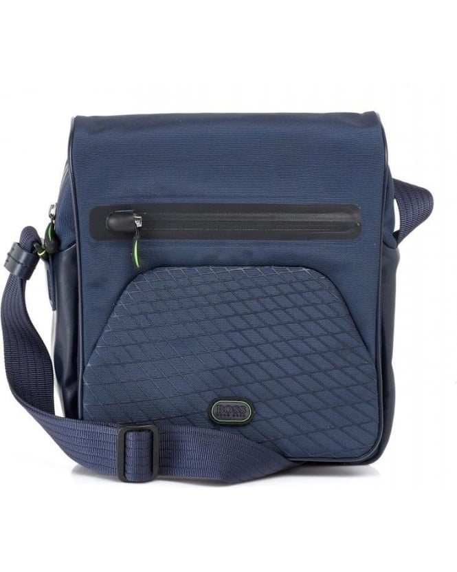 Hugo Boss Green 'Bricole' Navy Reporter Bag