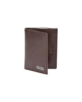 Brikol Chocolate Brown Leather Money Clip Cardholder