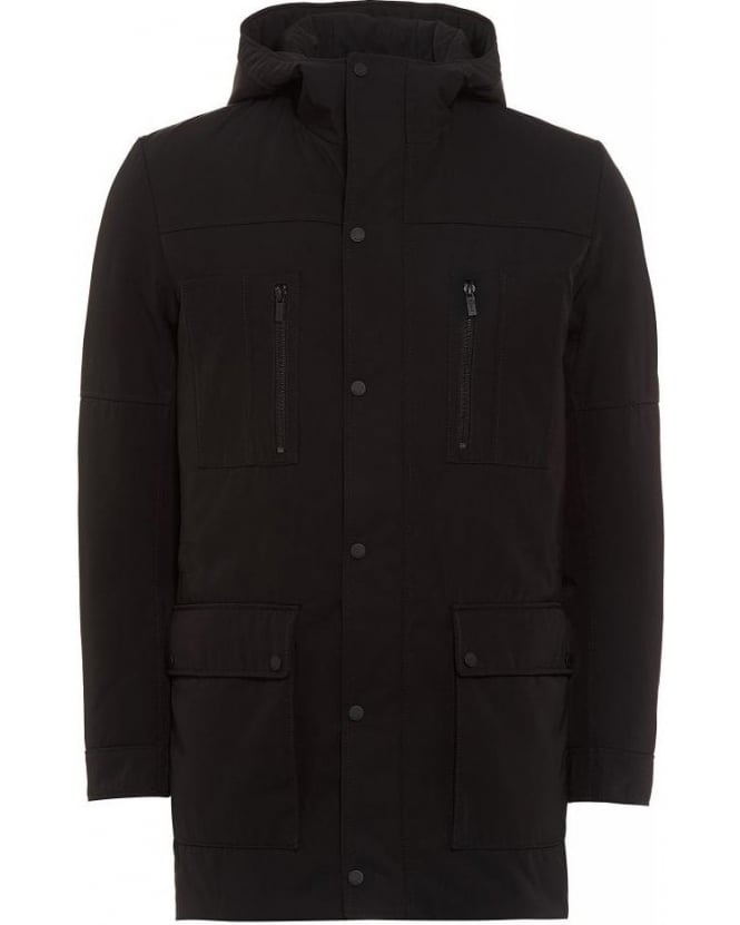 Hugo Boss - Hugo Brisot1 Black Parka, Hooded Down Jacket