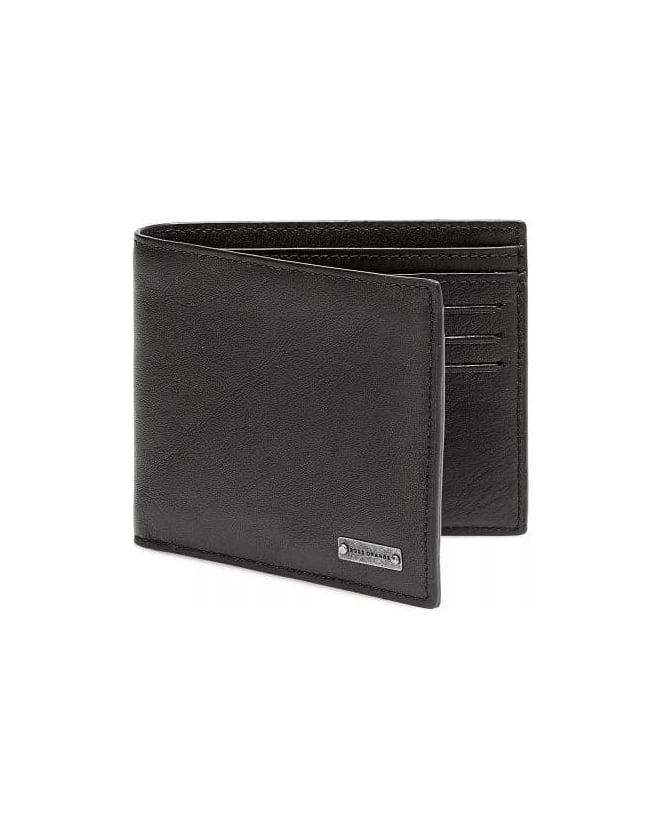 Hugo Boss Orange Brivio Black Leather Billfold Wallet