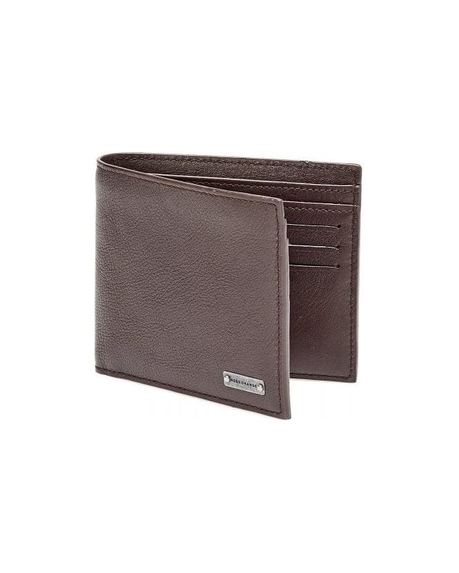 Hugo Boss Orange Brivio Brown Leather Billfold Wallet