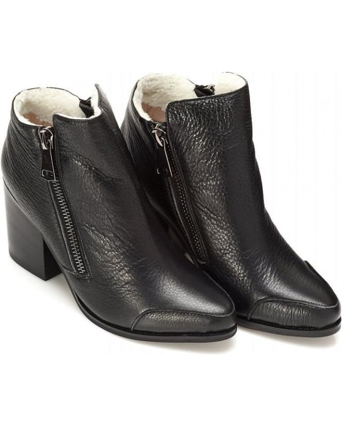 Sol Sana Brooke Boot Black Leather Shearling Boot