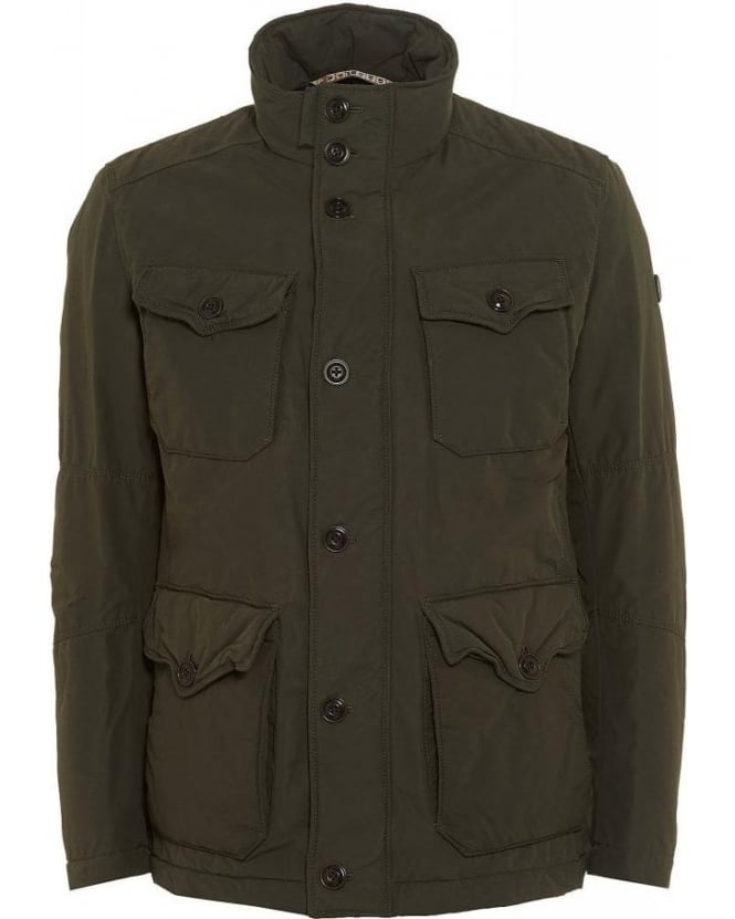 Hugo Boss Orange C-Ole-W Short Parka Dark Green Jacket
