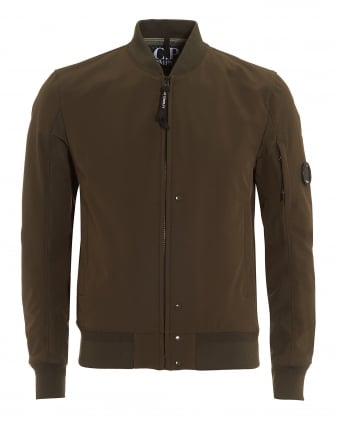 Mens Bomber Jacket, Soft Shell Olive Green Jacket