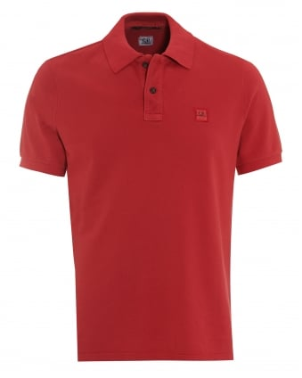 Mens Classic Berry Red Regular Fit Logo Polo Shirt