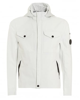 Mens Field Jacket, Lens Detail White Coat