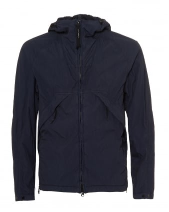 Mens Goggle Jacket, Mesh Lined Eclipse Navy Blue Coat