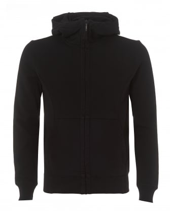 Mens Grey Zip Hoodie, Google Hood Sweatshirt