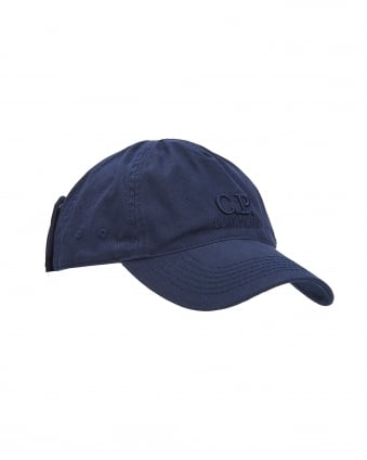 Mens Hat, Navy Blue Goggle Baseball Cap