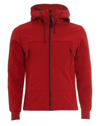 Mens Hoodie, Red Fleece Lined Hooded Sweatshirt