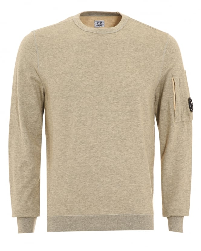 C.P. Company Mens Jumper, Grey Goggle Sweatshirt