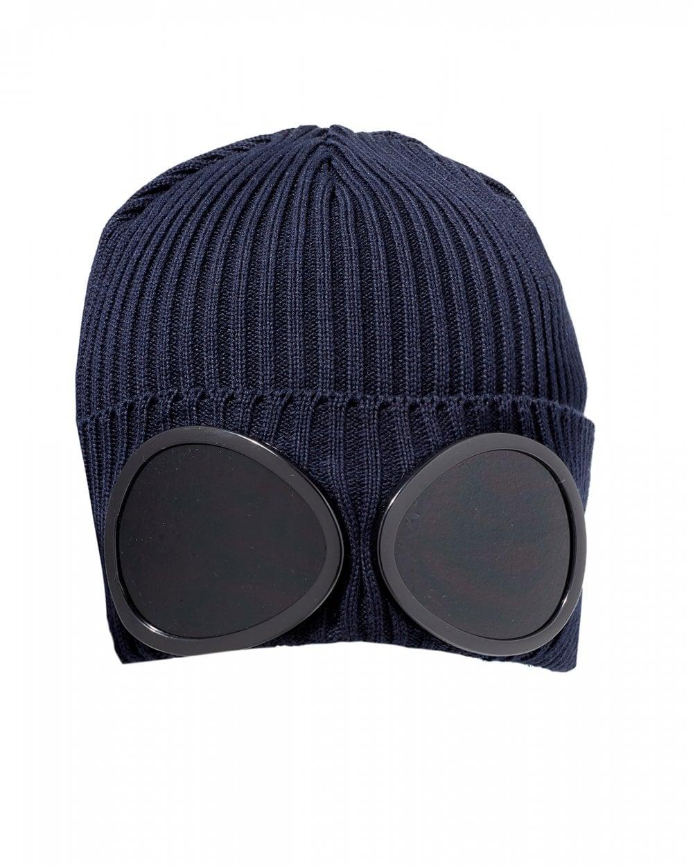 3b163496f Mens Large Goggle Beanie, Navy Blue Hat