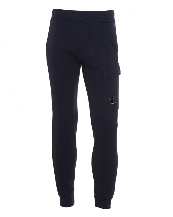 C.P. Company Mens Lens Pocket Detail Navy Blue Trackpants