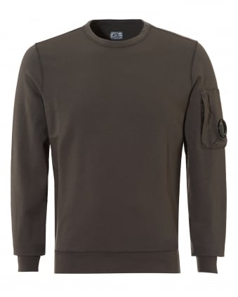 Mens Lightweight Sweatshirt, Crew Neck Grey Sweat