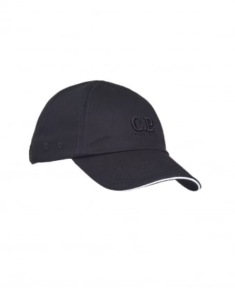 Mens Logo Baseball Cap, Cotton Black Hat