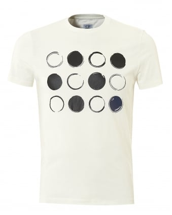 Mens Multi Lense T-Shirt, Short Sleeved White Tee