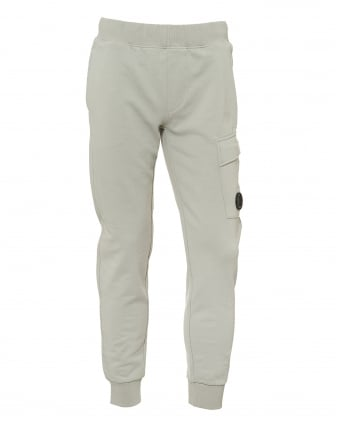 Mens Pocket Lens Trackpants, Relaxed Fit Stone Grey Sweatpants