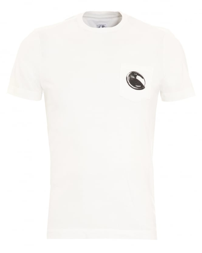 C.P. Company Mens Pocket Lens White T-Shirt