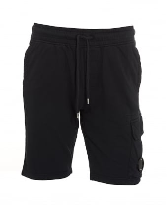 Mens Sweat Short Lens Navy Blue Shorts
