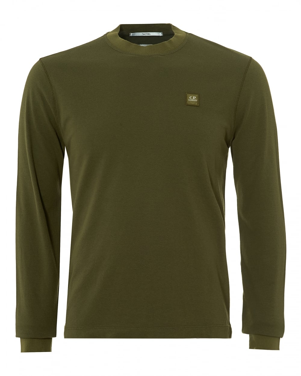 C p company mens sweat t shirt long sleeve patch logo for Sweat free t shirts