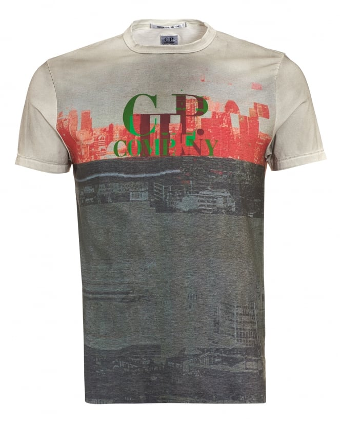 C.P. Company Mens T-Shirt, London Graphic Print Tee