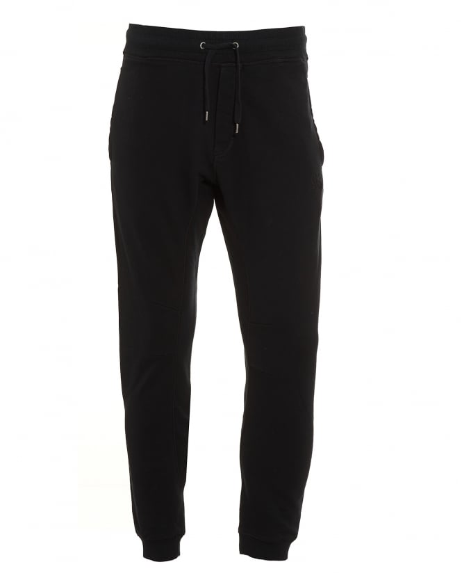 C.P. Company Mens Tonal Stitch Plain Black Trackpant