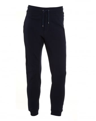 Mens Tonal Stitch Plain Navy Blue Trackpant