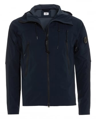 Mens Waterproof Jacket, Navy Blue Rubberised Nylon Jacket