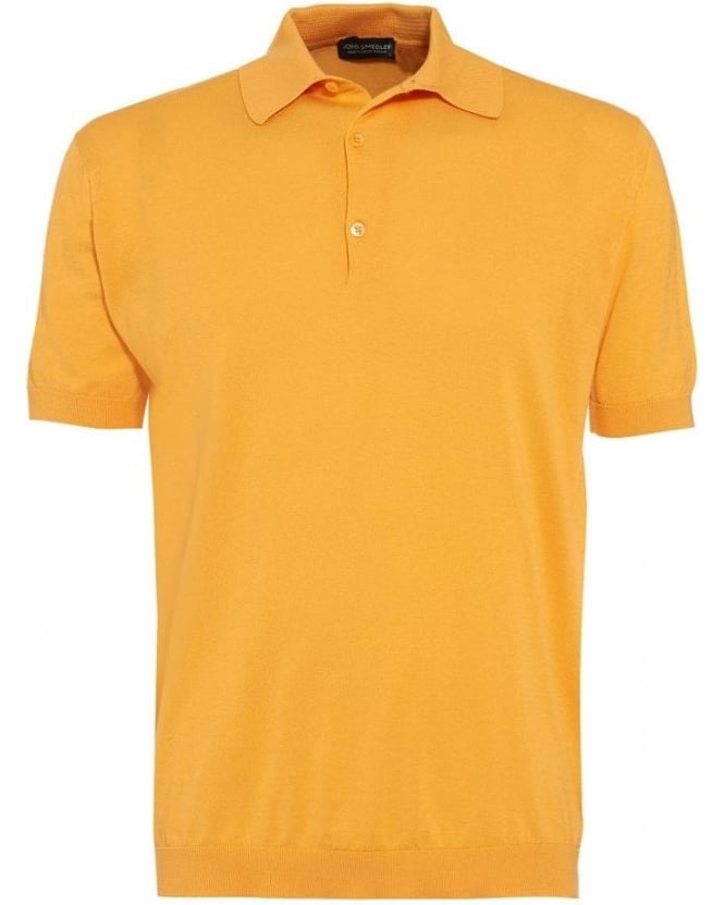 John Smedley Canteloupe Orange Slim Fit 'Adrian' Polo Shirt