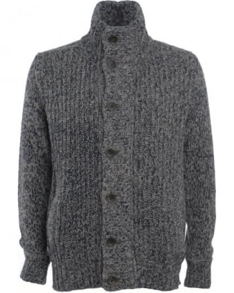Cardigan Blue Grey Kester Fleck Jumper