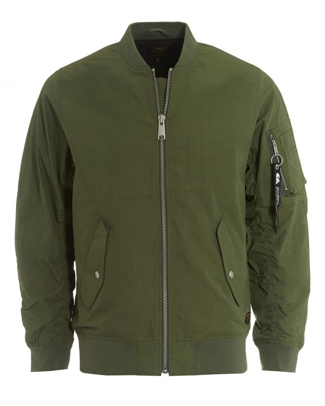Carhartt Mens Adams Jacket, Dollar Green Bomber Jacket