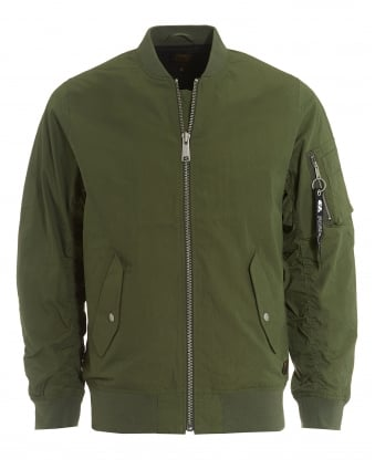 Mens Adams Jacket, Dollar Green Bomber Jacket