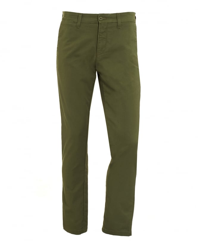 Carhartt Mens Green Cotton Twill Trousers