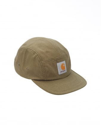 Mens Hat, Olive Green Logo Baseball Cap