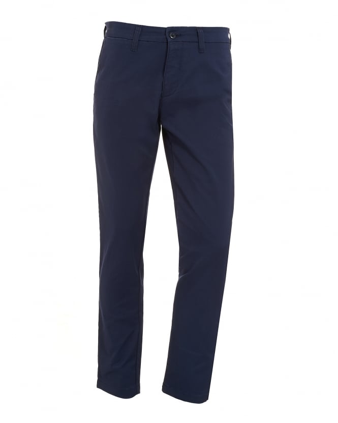 Carhartt Mens Navy Blue Cotton Twill Trousers