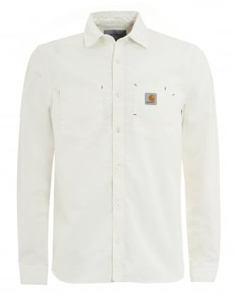 Mens State Chambray Workwear White Shirt