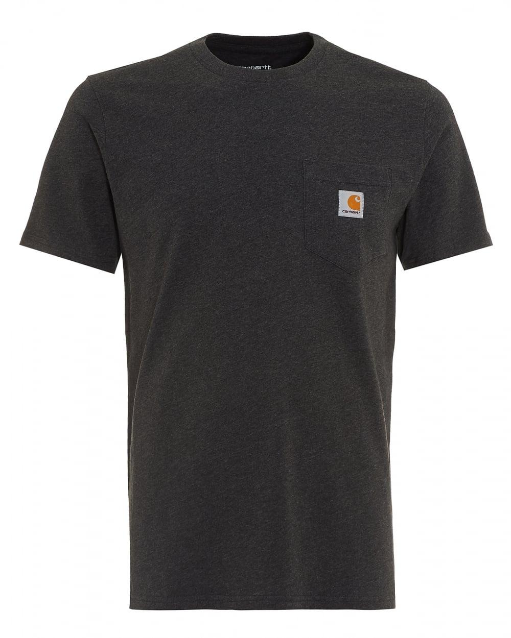 Carhartt Mens T Shirt Pocket Logo Black Tee