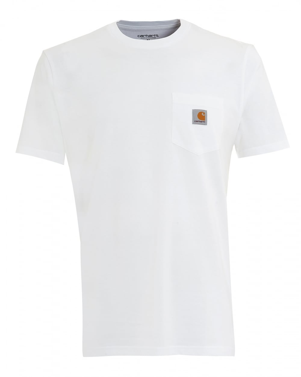 Fabulous Carhartt Mens T-Shirt, Pocket Logo White Tee HK72