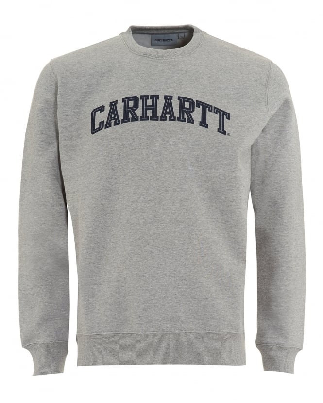 Carhartt Mens Yale Sweatshirt, Grey Heather Jumper