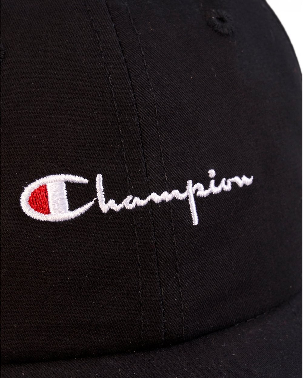9b521a27bce Champion Mens Black Script Hat