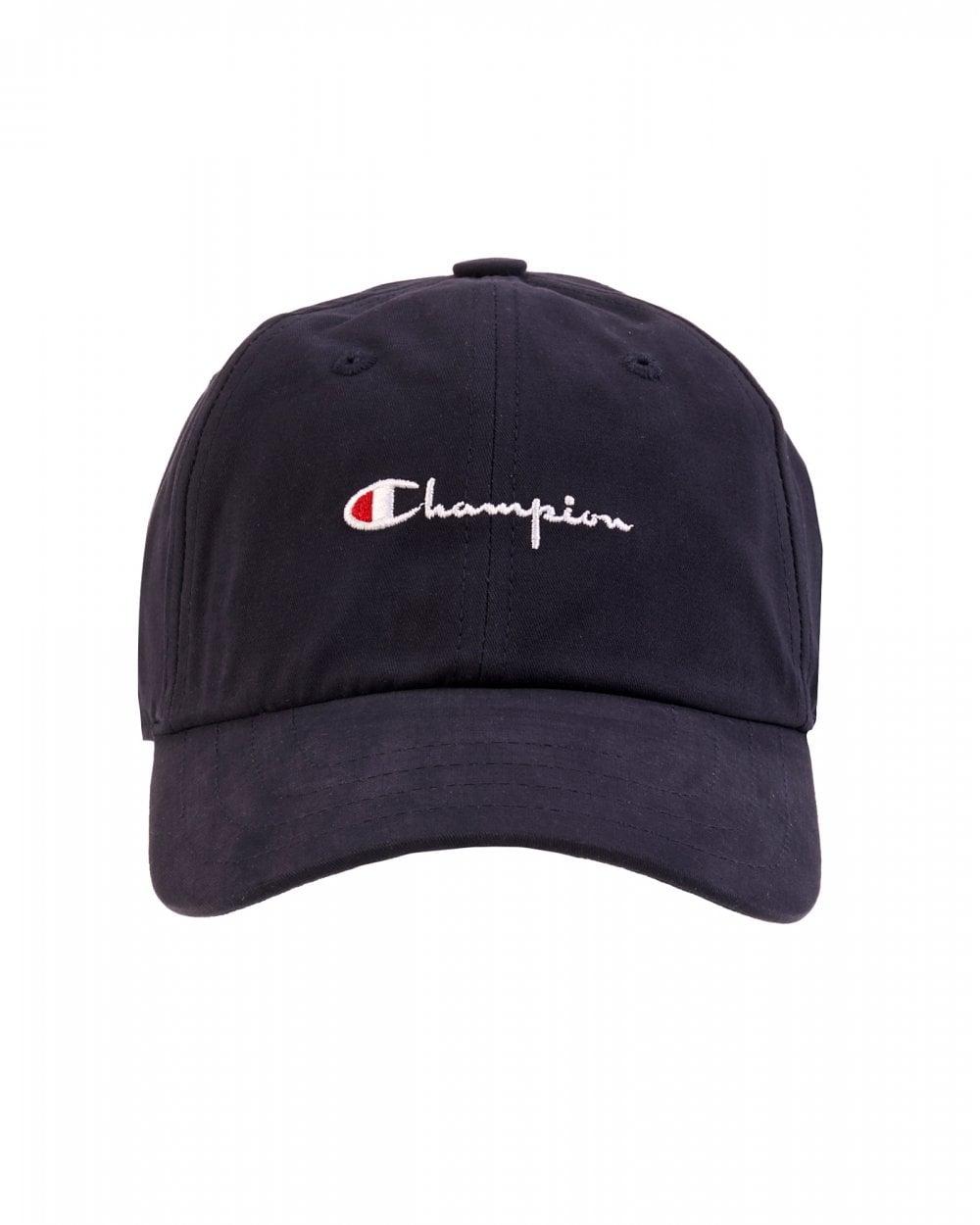 e21386d17a0 Champion Mens Navy Script Hat