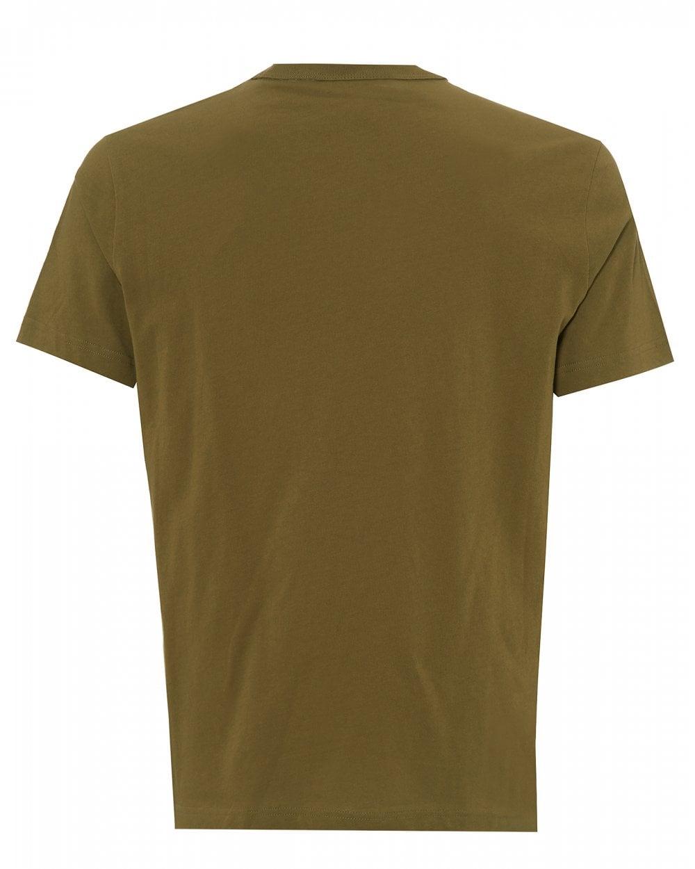 37fdfc3ee8fe Champion Olive White Small Script T-Shirt, Logo Tee
