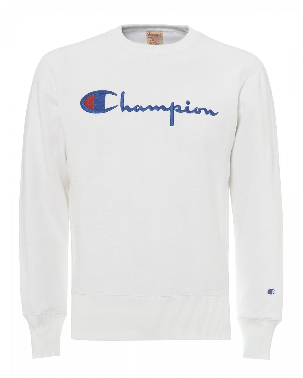 9cbd298e Champion Mens Reverse Weave Sweatshirt, Script Logo Sweat