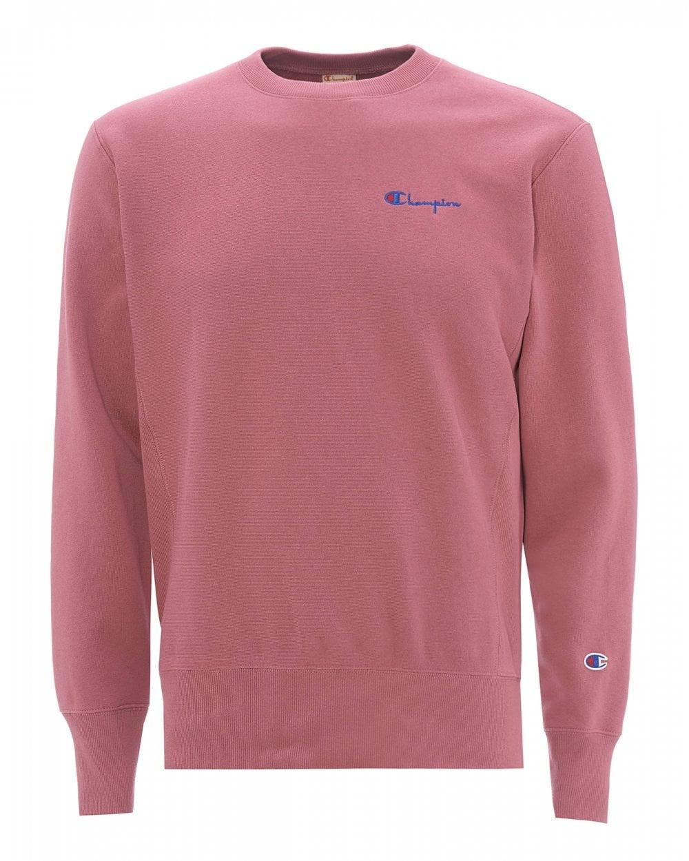 nouveau sélection pas cher pour réduction les plus récents Mens Small Script Logo Sweatshirt, Heather Rose Sweat